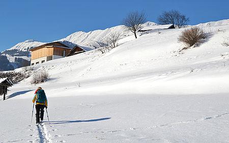 Schneeschuhwandern Fisser Felder